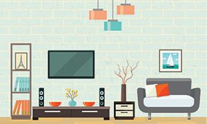 living room graphic