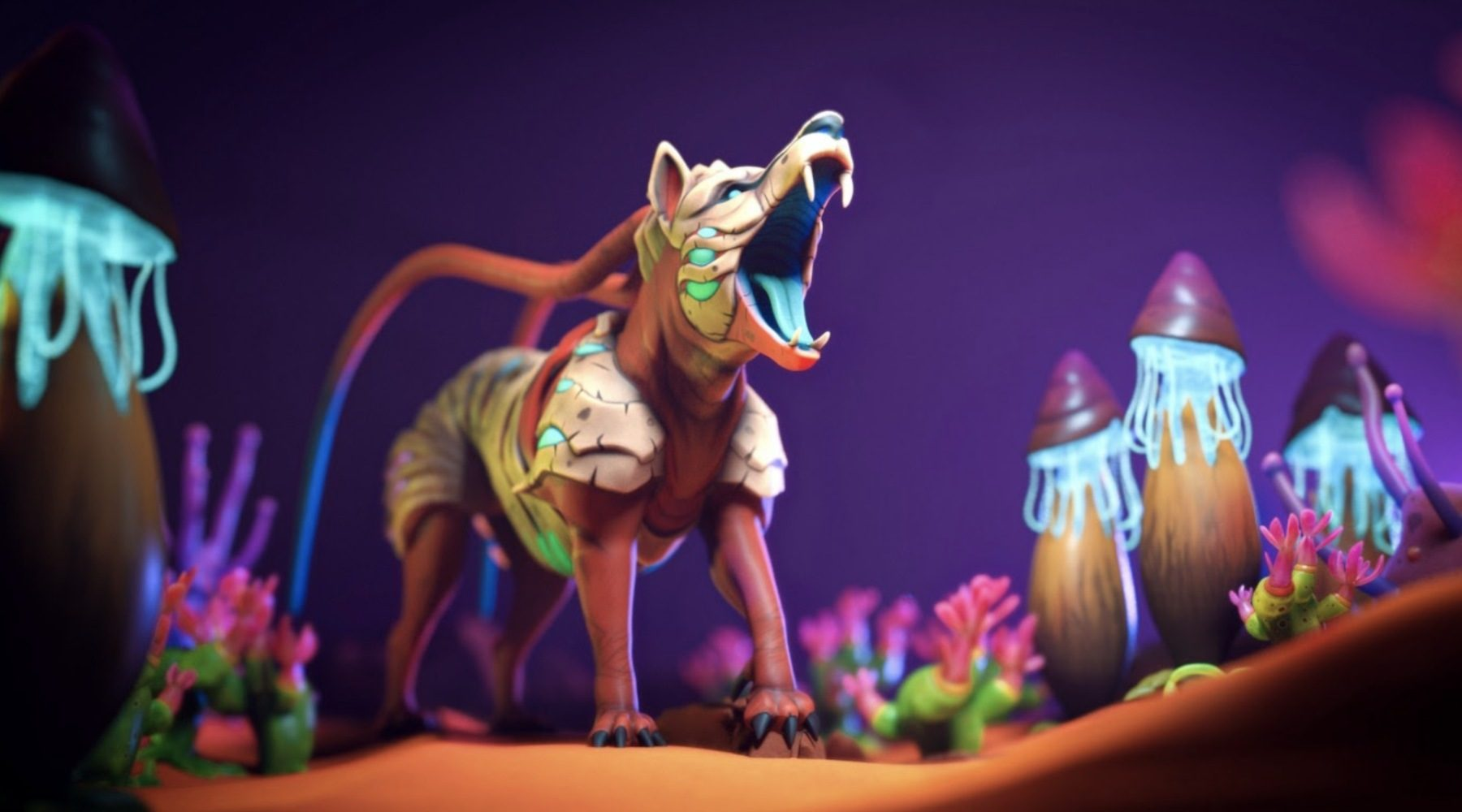 A monster from Illuvium that looks like a magical themed dog.  Honestly, it looks pretty good.