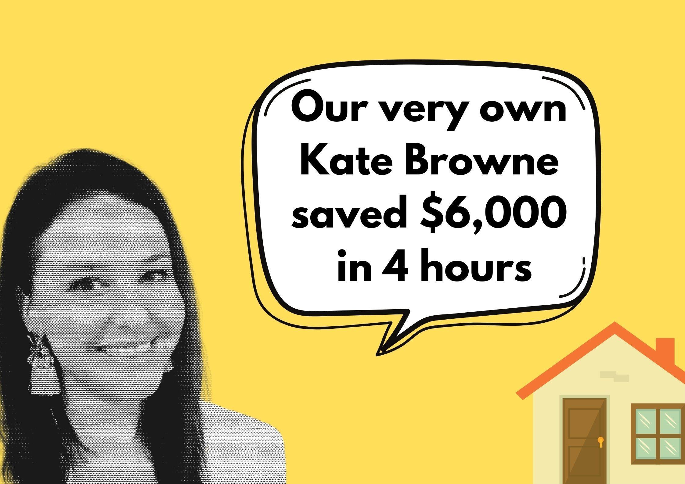 Save $6,000 in 4 hours, Sarah Megginson, senior editor, money