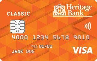Heritage Bank Classic Visa credit card