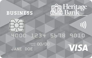 Heritage Bank Business Visa secured credit card
