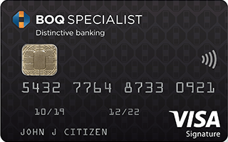 BOQ Specialist Signature Credit Card with Qantas Points or Velocity Points